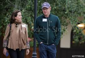 Adriana Cisneros, CEO of Grupo Cisneros, and her husband novelist, Nicholas  Griffin attend the annual Allen and Co. Sun Valley media conference in Sun  Valley, Idaho - Buy this stock photo and