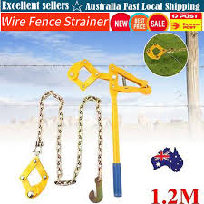 Pro Heavy Duty Wire Fence Strainer Plain Barbed Chain Fencing Repair Tool 1 2m 736691467852 Ebay