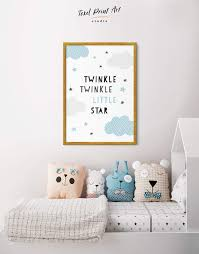 Framed Twinkle Twinkle Little Star Artwork Nursery Canvas Art At Texelprintart