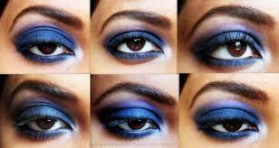 intense blue smokey eye makeup step