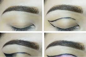 pink and black eye makeup pictorial
