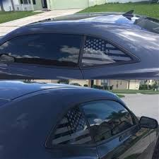 Us Flag Vinyl Decal Universal Fit Rear Quarter Window Distressed Grung Roe Graphics And Apparel