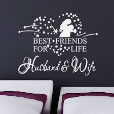 Best Friends For Life Husband Wife Wall Quote Words Decals Sticker Decor Black Wall Stickers Sticker 3m Stickers Numbersticker Eyes Aliexpress
