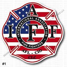 Amazon Com High Performance Vinyl Graphics Llc Inside Window Mount Us Usa American Flag Iaff Union Firefighter Decal Sticker 3 7 Premium 0303 Automotive