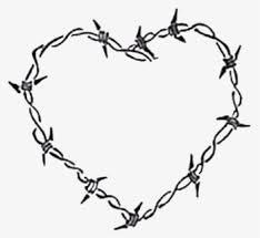 Barbed Wire Drawing Heart Barbed Wire Heart Tattoo Hd Png Download Kindpng