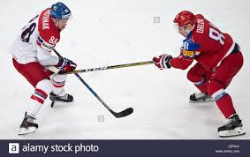 From left: David Pastrnak of Czech and Dmitry Orlov of Russia in Stock  Photo - Alamy