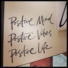 Positive Mind Positive Vibes Positive Life Inspirational Quote Mirror Motivation Vinyl Decal B01m24k16b