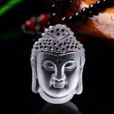 crystal pendants guanyin head buddha