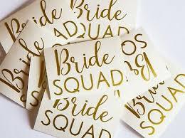 20 Bride Squad Stickers Bridal Shower Decor Wedding Party Sticker Team Bride Ebay