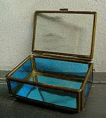 vintage stained glass trinket boxes