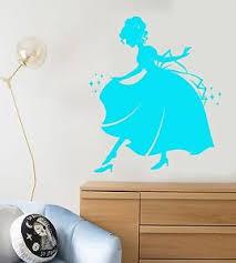 Vinyl Wall Decal Cinderella Princess Fairy Tale Story Nursery Stickers 1089ig Ebay