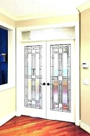 frosted glass pocket door