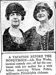 Ada May Weeks and mother Esther Lewis Weeks, 1924, Zanesville Times Signal,  Ohio - Newspapers.com