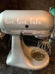 Live Love Bake Kitchenaid Mixer Vinyl Decal E Vozeli Com