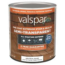 Valspar Tintable Neutral Base Semi Transparent Exterior Stain And Sealer Quart In The Exterior Stains Department At Lowes Com