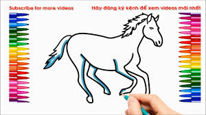 how to draw a horse, how to coloring a horse, drawing a horse ...
