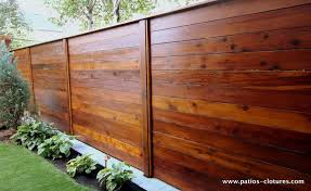 Horizontal Fence Patios Et Clotures Beaulieu Wood Fence Design Fence Design Fence Planning