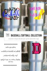 Baseball Decals Softball Decals Gift For Softball Mom Gift For Baseball Mom Baseball Yeti Decal Softball Custom Vinyl Decal Baseball Decals Vinyl Decals