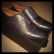 aldo shoes mens blue cap toe dress