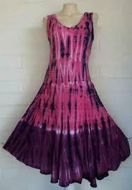 Ivy Reed Medium blue pink purple shibori tie-dye fit & flare midi dress    eBay