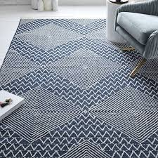 traced diamond kilim rug west elm