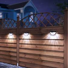 Gohope Solar Fence Post Lights 4pcs Pack White Color Solar Deck Lights Outdoor Security Lamps For Patio Stairs Garden Pathway Walmart Canada