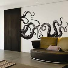 Amazon Com Digtour Wallart Vinyl Kraken Wall Decal Octopus Tentacles Wall Sticker Sea Monster Decals Squid Wall Graphic Mural Home Art Decor Black Home Kitchen