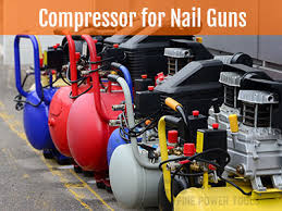 what size air pressor for nail gun