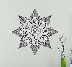 Mandala Flower Wall Vinyl Decal India Henna Vinyl Sticker Abstract Home Decor 17 Ebay