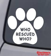 Dog Car Decal Cat Car Decal Sticker Adopt Rescue Dog Or Cat Decal