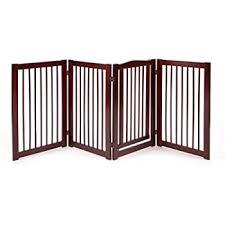 Amazon Com Giantex 30 Configurable Folding Free Standing Panel Wood Pet Dog Safety Fence W Gate 121 W Baby