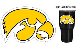 Iowa Hawkeyes 4 Premium Die Cut Vinyl Decal Sticker Fo