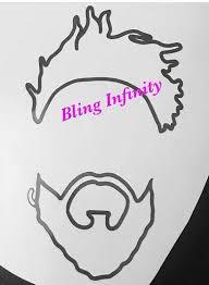 Beard And Locs Male Vinyl Decal Mug Decal Glass Decal Car Etsy