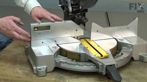 Dewalt Miter Saw Repair How To Replace The Left Fence Youtube