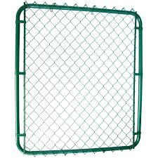 Master Halco 42 X48 Green Chain Link Fence Gate Home Hardware
