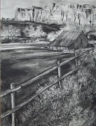 Old Farm House Drawing By Laneea Tolley