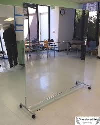 glassless mirrors on wheels