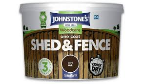 Buy Johnstone S Shed Fence Paint 9 Litre Dark Oak Shed And Fence Paint Argos