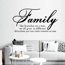 Family English Text Pattern Wall Sticker Home Decor Room Decals Wallpaper Pegatinas De Pared Home Decoration Wall Stickers Wall Stickers Aliexpress