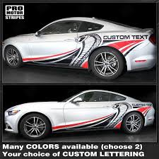Ford Mustang 2015 2019 Cobra Style Multi Color Side Stripes Decal 1323 Pro Motor Stripes