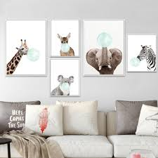 2020 Baby Animal Zebra Girafe Canvas Poster Nursery Wall Art Print Painting Nordic Picture Children Kids Bedroom Decoration From Yiyu Hg 11 98 Dhgate Com