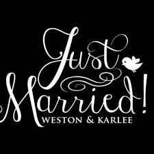 Just Married Car Window Decal With Names Db244 Designedbeginnings