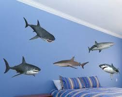 Popular Items For Shark Decor On Etsy Wall Stickers Bedroom Shark Decor Nursery Wall Decals Boy