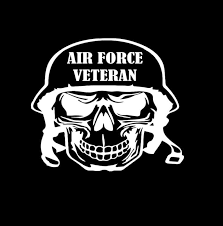 Air Force Veteran Skull Military Window Decal Stickers Custom Sticker Shop