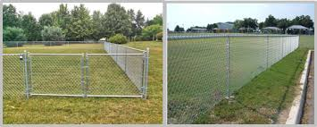 Outdoor 6 Foot Chain Link Fence Panels For Sports Yard Industrial Sites