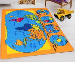 World Map Kids Educational Play Mat For School Classroom Kids Room D Handcraft Rugs