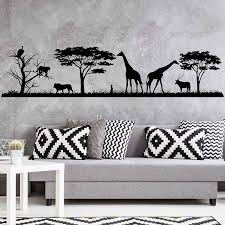 African Safari Wall Decal Jungle Vinyl Stickers Decals Home Decor Animal Wall Vinyl Decal Nursery Decor Room Decoration 3117 Wall Stickers Aliexpress