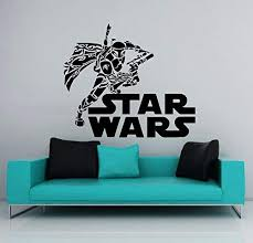 Amazon Com Wall Decal Star Wars Logo Boba Fett Vinyl Sticker Decals Nursery Baby Room Home Decor Bedroom Art Design Interior Ns849 Kitchen Dining