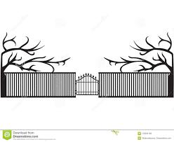 Vector Black Elegant Fence With Gates Illustration Stock Vector Illustration Of Silhouette Design 118334169