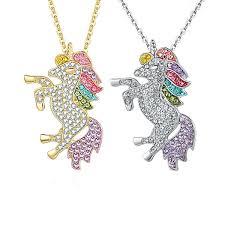 unicorn designer pendants necklaces
